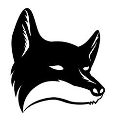black fox sign vector image