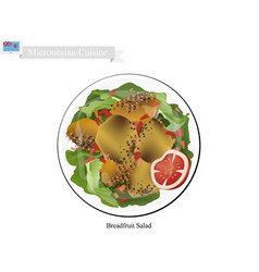 breadfruit salad one of most famous food vector image
