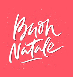 Buon natale christmas lettering vector