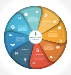 business pie chart diagram data 8 vector image