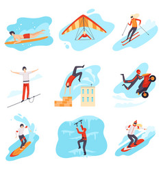 characters do extreme sports vector image