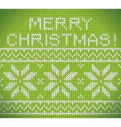 Christmas nordic green seamless knitting vector image