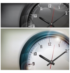 Clocks on white and black vector