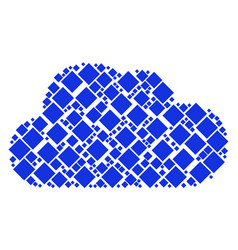 cloud mosaic of filled rhombus icons vector image