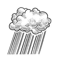 cloud rain sketch vector image