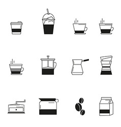 Coffee icon set line style coffee sign vector image