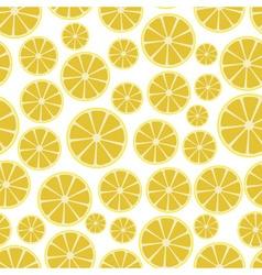 colorful sliced lemon fruits seamless white vector image