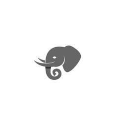 creative charcoal elephant head logo vector image