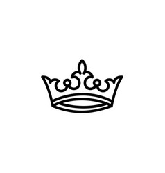Crown line icon in flat style icon for apps ui vector