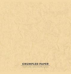crumpled brown cardboard texture background pixel vector image