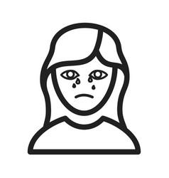 crying woman vector image