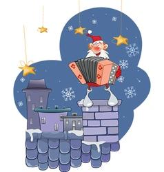 Cute Santa Claus Accordion vector