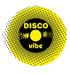 disco vibe stamp vector image