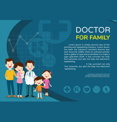 Doctor woman and kids background poster landscape vector