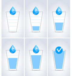 Drink water glass concept vector