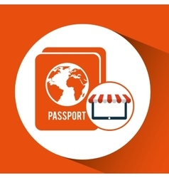 E-commerce travel password icon design vector