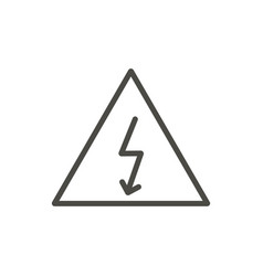 electric warning icon line high valtage sy vector image
