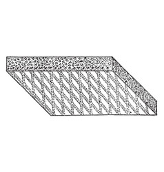 Expanded steel concrete slab lightweight concrete vector