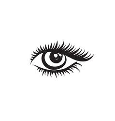 eye logo eye design in minimalistic graphic style vector image