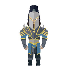 Fantasy knight character vector