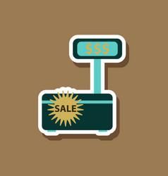 Fashion patch sale sticker cash machine sale vector