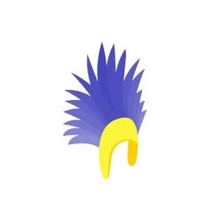 Feathers hat icon isometric 3d style vector image