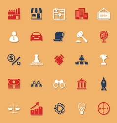 Franchise classic color icons with shadow vector