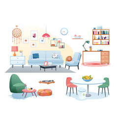 furniture decoration in home interior vector image