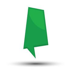 green cartoon comic balloon speech bubble vector image