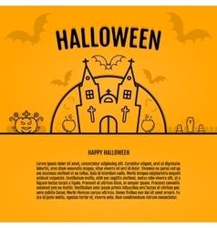 happy halloween concept orange background vector image