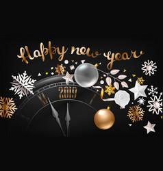 happy new year greeting card premium design vector image