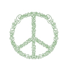 Hippie circle icon love and peace design vector