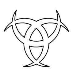 Horn odin triple horn of odin icon black color vector