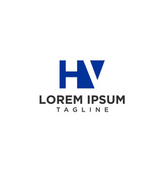 hv negative space logo vector image