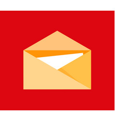 icon post letter symbol in flat style vector image
