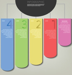 infographic plan row tag vector image