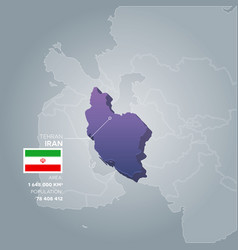 iran information map vector image