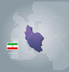 Iran information map vector