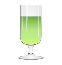 isolated green cocktail vector image