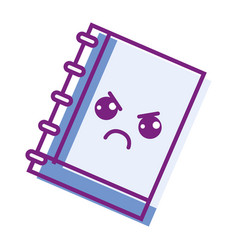 Kawaii cute angry notebook tool vector