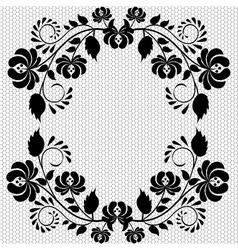 lace frame with flower vector image