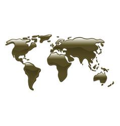 liquid oil world map vector image