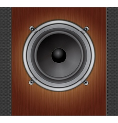 Loud Speaker on a wood background vector image
