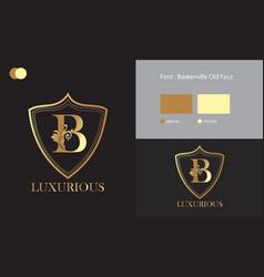 Luxurious logo design vector