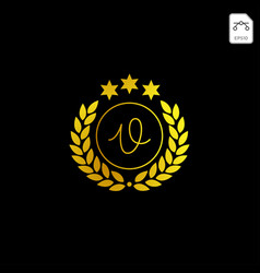 Luxury v initial logo or symbol business company vector