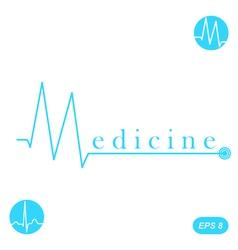 M letter medicine concept template vector