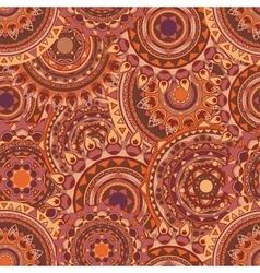 mandala seamless patterns vector image