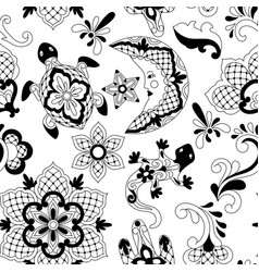 mexican lace seamless pattern vector image