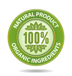 Natural label vector image