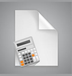 Paper symbol calculator vector